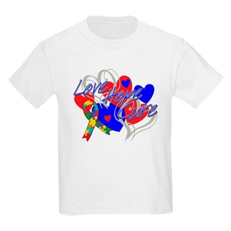 Autism Love Hope Cure Kids Light T-Shirt