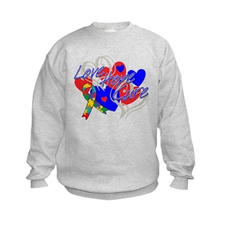 Autism Love Hope Cure Kids Sweatshirt