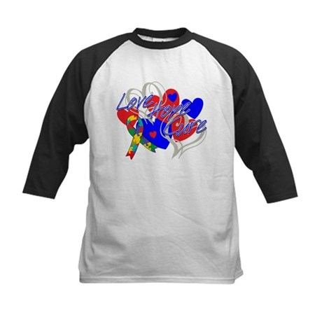 Autism Love Hope Cure Kids Baseball Jersey
