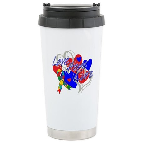 Autism Love Hope Cure Ceramic Travel Mug