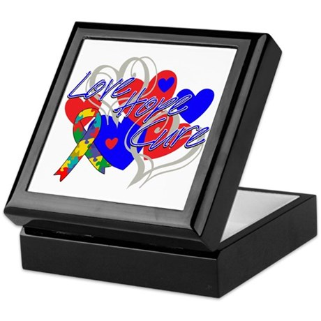 Autism Love Hope Cure Keepsake Box