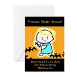 Baby Jesus Glossy Halloween Cards (Pack of 6)