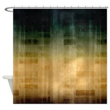 Modern Green Gold Fade Shower Curtain