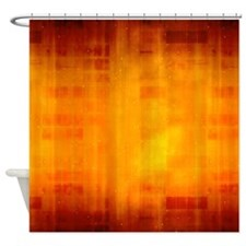 Modern Orange Fade Shower Curtain