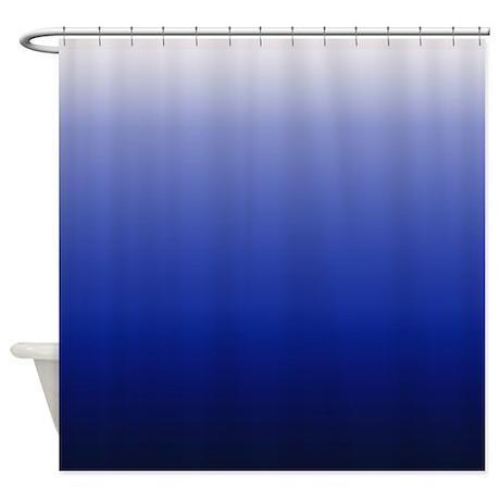 gifts bathroom d cor blue fade shower curtain