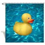 Rubber Duck in Water Shower Curtain