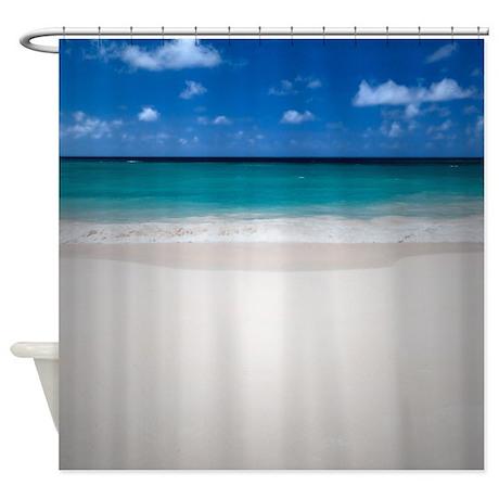 design sand ocean sea bathroom d cor perfect beach shower curtain
