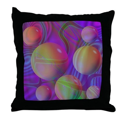 Inner Flow V Throw Pillow