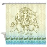 Ganesha Dip Dyed Shower Curtain