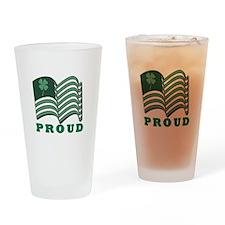 Proud Irish American Drinking Glass