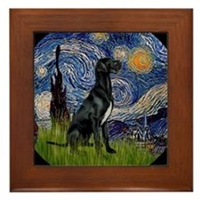 Cute Van gogh art Framed Tile