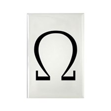Greek Omega Symbol Rectangle Magnet (100 pack)