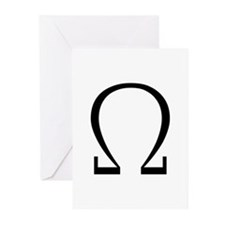 Greek Omega Symbol Greeting Cards (Pk of 10)