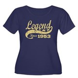 Legend Since 1953 Women's Plus Size Scoop Neck Dar