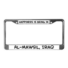 Happiness is Al-Mawsil License Plate Frame