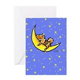 Pomeranian Moon Greeting Card