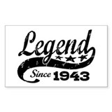 Legend Since 1943 Decal