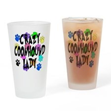 Crazy Coonhound Lady Drinking Glass