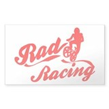 Rad Racing Rectangle Decal