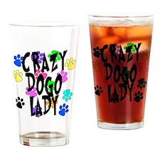 Crazy Dogo Lady Drinking Glass