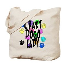 Crazy Dogo Lady Tote Bag