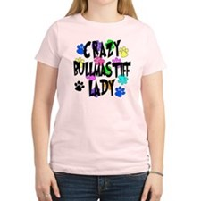 Crazy Bullmastiff Lady T-Shirt