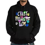 Crazy Bullmastiff Lady Hoody