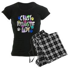 Crazy Bullmastiff Lady Pajamas