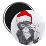 CHRISTMAS MONKEY Magnet