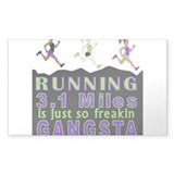 RUNNING IS SO GANGSTA 5K Decal