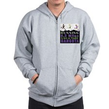 RUNNING IS SO GANGSTA 10K Zip Hoodie