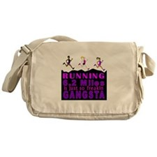 RUNNING IS SO GANGSTA 10K Messenger Bag
