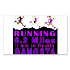 RUNNING IS SO GANGSTA 10K Decal