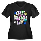 Crazy Boerboel Lady Women's Plus Size V-Neck Dark