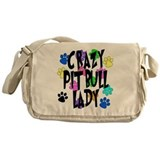 Crazy Pit Bull Lady Messenger Bag