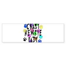 Crazy Newfie Lady Bumper Sticker