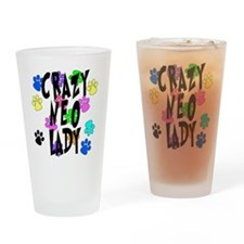 Crazy Neo Lady Drinking Glass