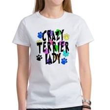 Crazy Rat Terrier Lady Tee