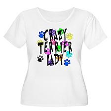 Crazy Rat Terrier Lady T-Shirt