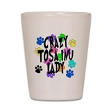 Crazy Tosa Inu Lady Shot Glass