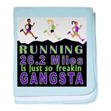 RUNNING IS SO GANGSTA FULL MARATHON baby blanket