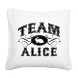 team-alice_wh.png Square Canvas Pillow