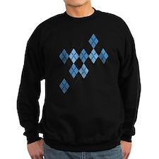 Blue Evil Argyle Sweatshirt