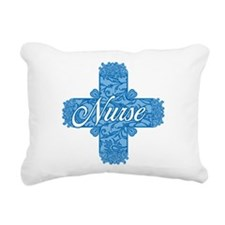 Lacy Blue Nurse Cross Rectangular Canvas Pillow