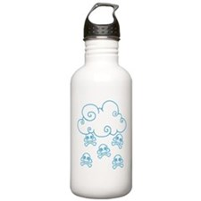 Cute Skull Raincloud Water Bottle