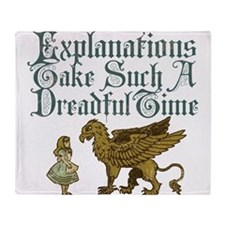 Alice Gryphon Explanations Throw Blanket