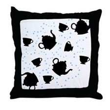 Tumbling Tea Party Throw Pillow