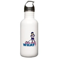 Girl Hockey Player Water Bottle