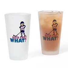 Girl Hockey Player Drinking Glass