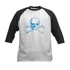 Classic Skull And Crossbones Blue Tee